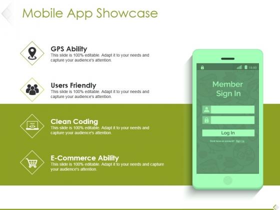 Mobile App Showcase Ppt PowerPoint Presentation Styles Design Ideas