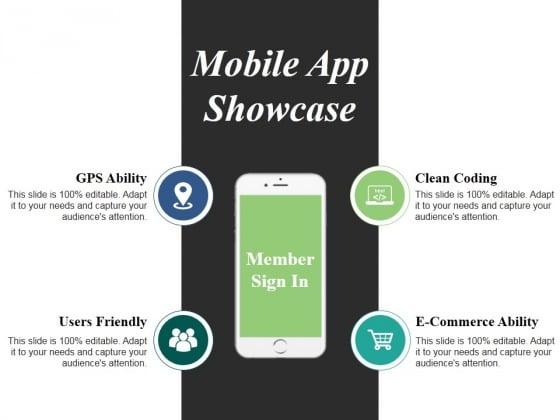 Mobile App Showcase Ppt PowerPoint Presentation Styles Smartart