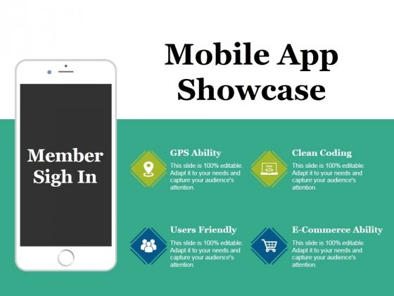 Mobile App Showcase Ppt PowerPoint Presentation Visual Aids Layouts