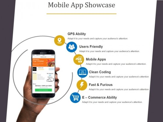 Mobile App Showcase Template 1 Ppt PowerPoint Presentation Model Example