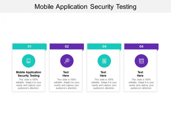 Mobile Application Security Testing Ppt PowerPoint Presentation Pictures Images Cpb