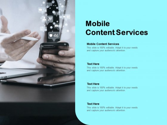 Mobile Content Services Ppt PowerPoint Presentation Infographics Graphic Tips Cpb