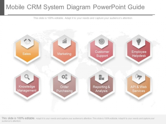 Mobile Crm System Diagram Powerpoint Guide