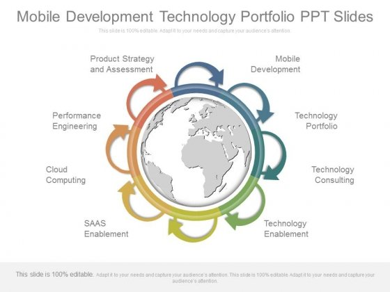 Mobile Development Technology Portfolio Ppt Slides