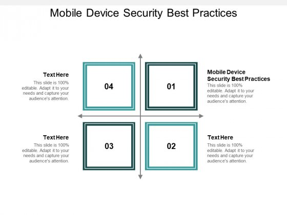 Mobile Device Security Best Practices Ppt PowerPoint Presentation Outline Rules Cpb