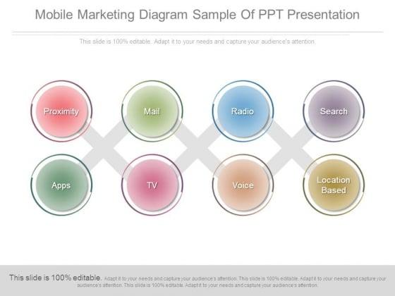 Mobile Marketing Diagram Sample Of Ppt Presentation