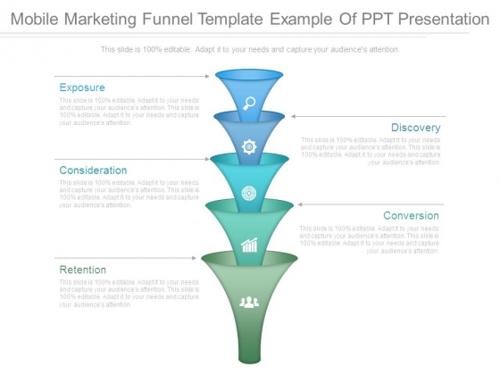 Mobile Marketing Funnel Template Example Of Ppt Presentation
