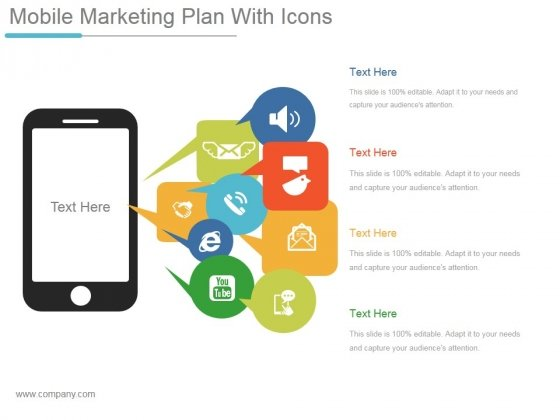 Mobile Marketing Plan With Icons Ppt PowerPoint Presentation Ideas