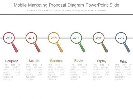 Mobile Marketing Proposal Diagram Powerpoint Slide