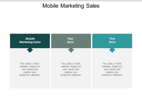 Mobile Marketing Sales Ppt PowerPoint Presentation Icon Diagrams Cpb