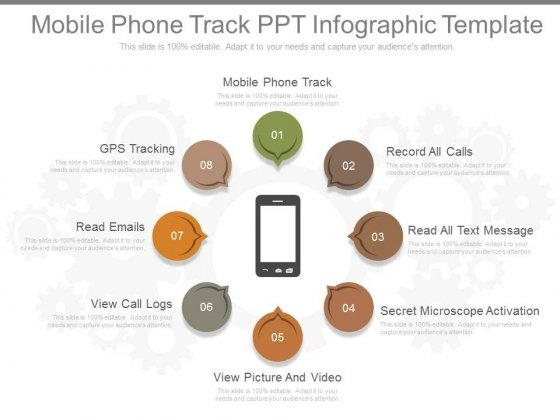 Mobile Phone Track Ppt Infographic Template