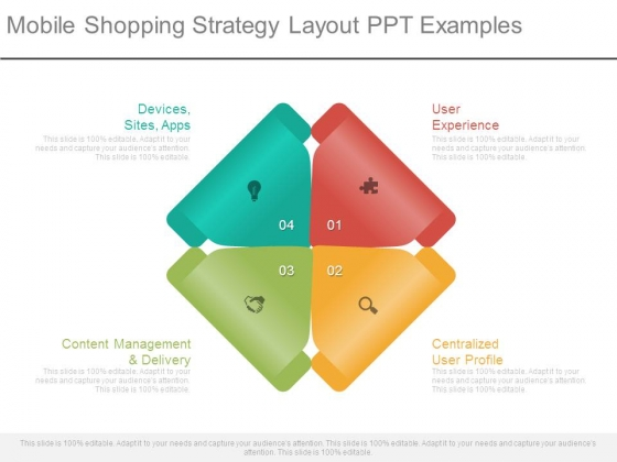 Mobile Shopping Strategy Layout Ppt Examples