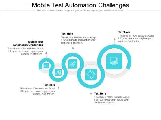 Mobile Test Automation Challenges Ppt PowerPoint Presentation Slides Topics Cpb Pdf