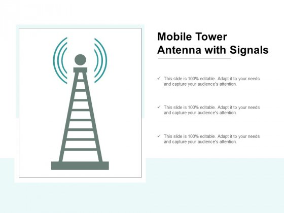 Mobile Tower Antenna With Signals Ppt PowerPoint Presentation Icon Grid