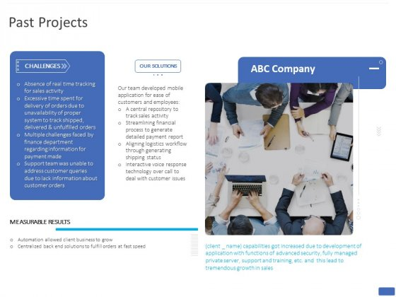 Mobile Web App Past Projects Ppt PowerPoint Presentation Summary Design Ideas PDF