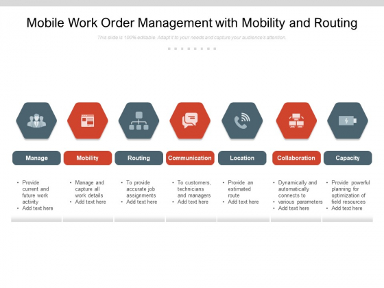 Mobile Work Order Management With Mobility And Routing Ppt PowerPoint Presentation Professional Topics PDF