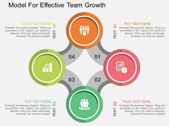 Model For Effective Team Growth Powerpoint Templates