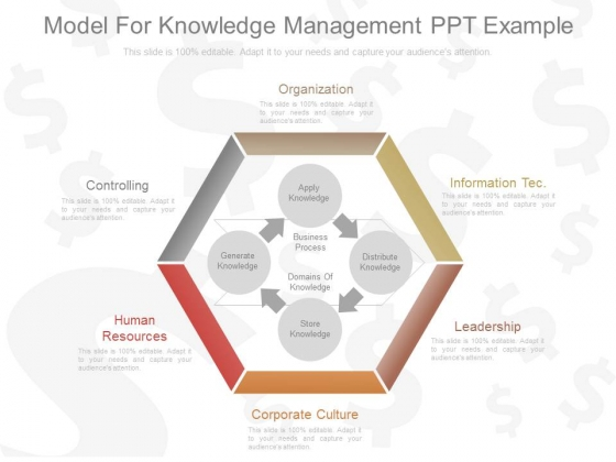 Model For Knowledge Management Ppt Example