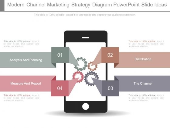Modern Channel Marketing Strategy Diagram Powerpoint Slide Ideas
