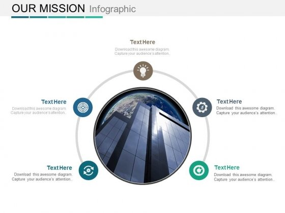 Modern Design For Company Mission Statement Powerpoint Slides