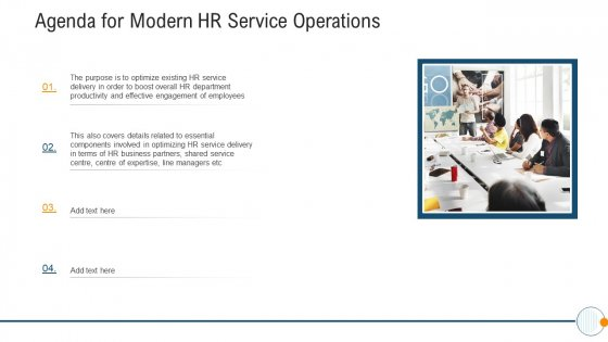 Modern_HR_Service_Operations_Agenda_For_Modern_HR_Service_Operations_Professional_PDF_Slide_1