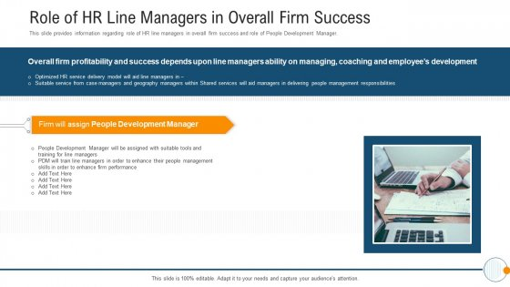 Modern HR Service Operations Role Of HR Line Managers In Overall Firm Success Rules PDF