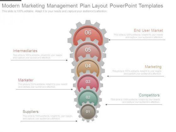 Modern Marketing Management Plan Layout Powerpoint Templates