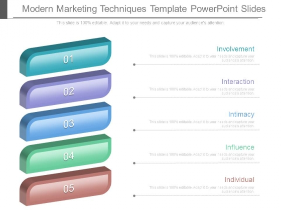 Modern Marketing Techniques Template Powerpoint Slides