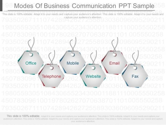 Modes Of Business Communication Ppt Sample