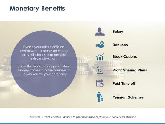 Monetary Benefits Ppt PowerPoint Presentation Slides Information