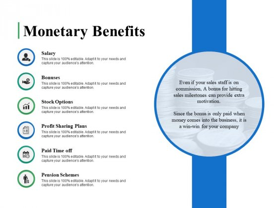 Monetary Benefits Ppt PowerPoint Presentation Summary Ideas