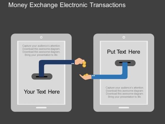 Money Exchange Electronic Transactions Powerpoint Templates