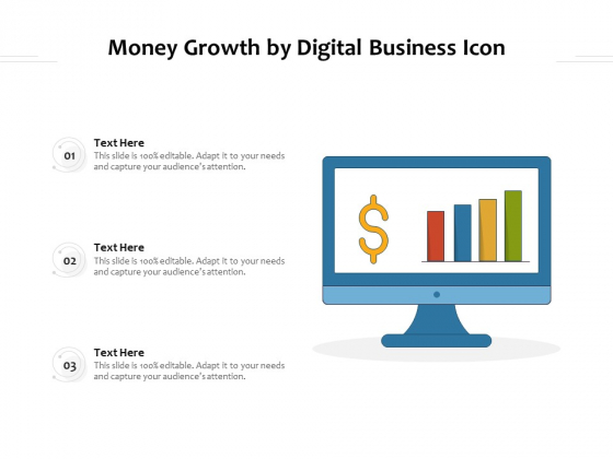 Money Growth By Digital Business Icon Ppt PowerPoint Presentation Inspiration Smartart PDF