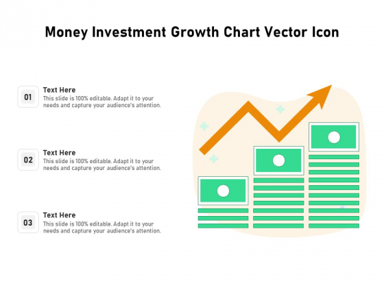 Money Investment Growth Chart Vector Icon Ppt PowerPoint Presentation Slides Influencers PDF