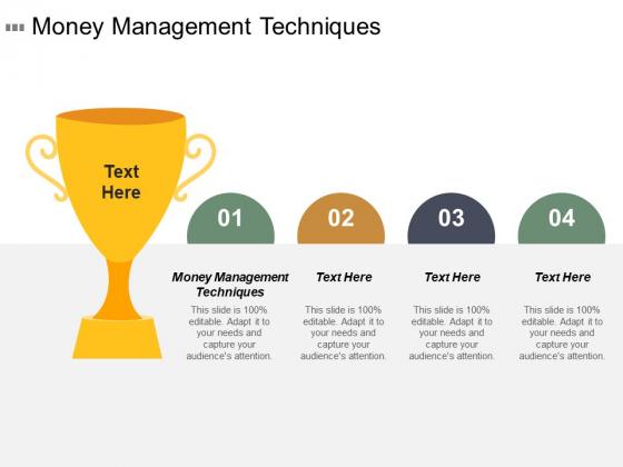 Money Management Techniques Ppt Powerpoint Presentation File Show Cpb