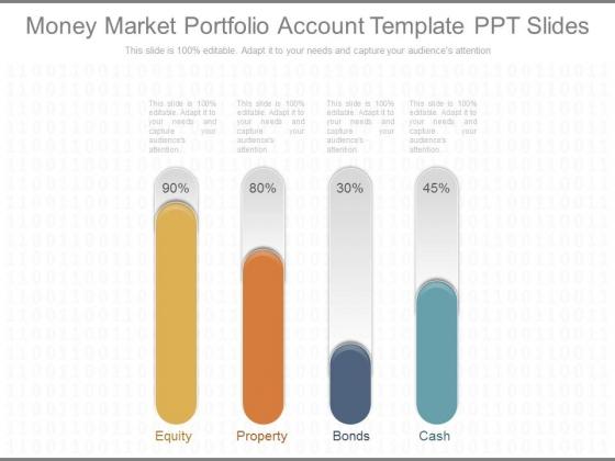 Money Market Portfolio Account Template Ppt Slides