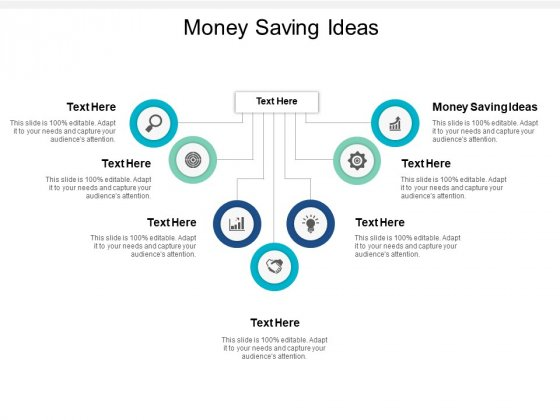 Money Saving Ideas Ppt PowerPoint Presentation Inspiration Example Topics Cpb