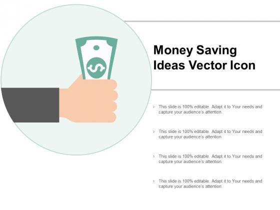 Money Saving Ideas Vector Icon Ppt PowerPoint Presentation Tips