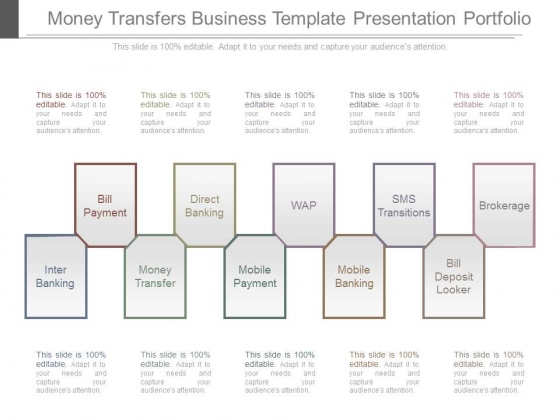 Money Transfers Business Template Presentation Portfolio