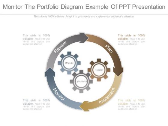 Monitor The Portfolio Diagram Example Of Ppt Presentation