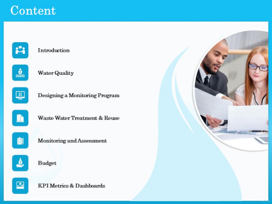 Monitoring And Evaluating Water Quality Content Ppt PowerPoint Presentation Layouts Example File PDF