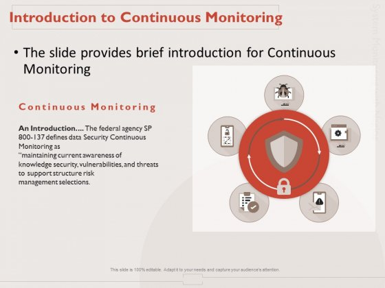 Monitoring Computer Software Application Introduction To Continuous Monitoring Ppt PowerPoint Presentation Model Files PDF