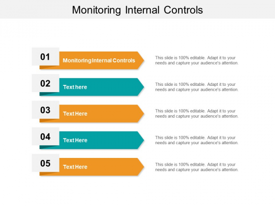 Monitoring Internal Controls Ppt PowerPoint Presentation Icon Influencers Cpb