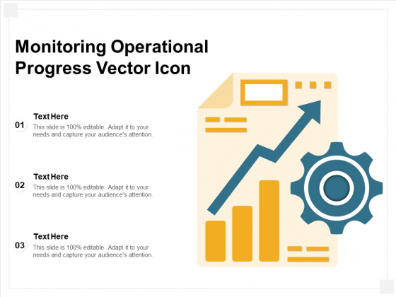 Monitoring Operational Progress Vector Icon Ppt PowerPoint Presentation File Background Designs PDF
