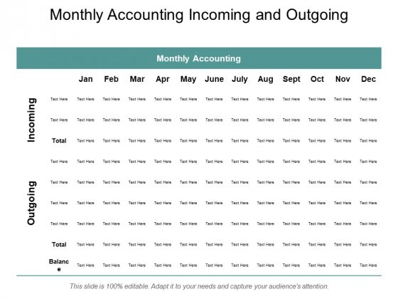 Monthly Accounting Incoming And Outgoing Ppt Powerpoint Presentation Professional Example Topics