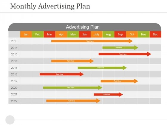 Monthly Advertising Plan Ppt PowerPoint Presentationoutline Images