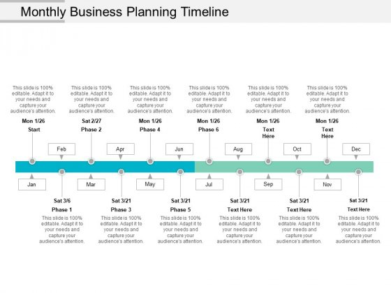 Monthly Business Planning Timeline Ppt PowerPoint Presentation Visual Aids Files