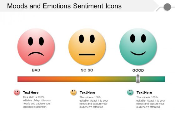 Moods And Emotions Sentiment Icons Ppt Powerpoint Presentation Styles Icon