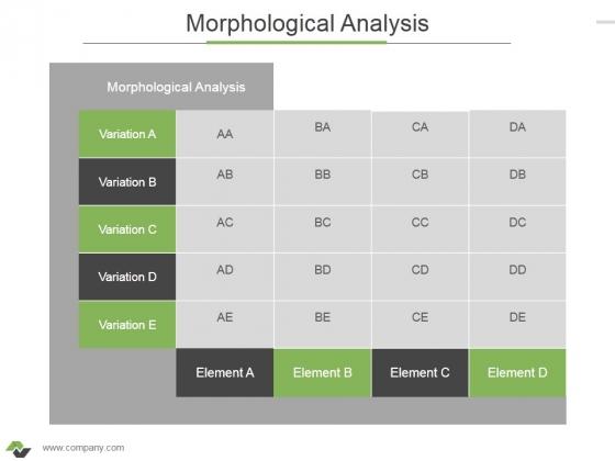 Morphological Analysis Ppt PowerPoint Presentation Outline Slide Portrait