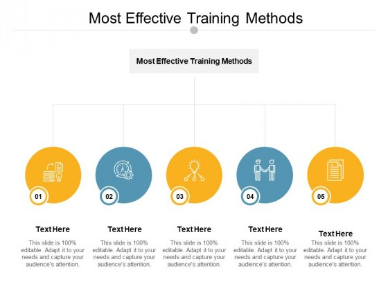 Most Effective Training Methods Ppt PowerPoint Presentation Show Slideshow Cpb